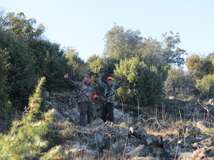 Montería de Arqueros en Fuencaliente, mancha La Umbria en Sierra Madrona