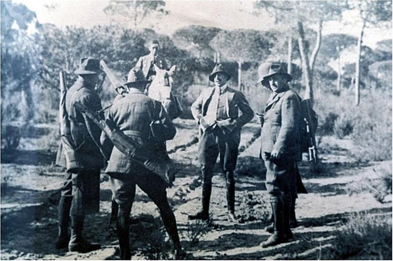 Rey Afonso XIII en Doñana. 1923