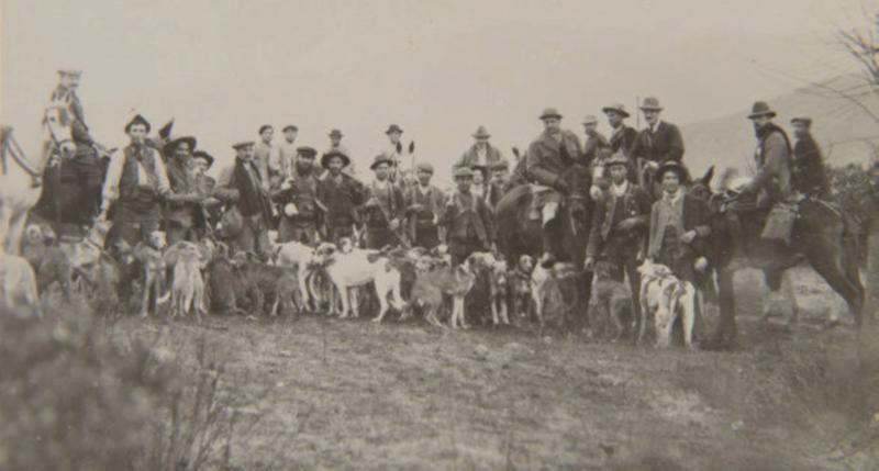 Cazadores con rehalas en Doñana 1911