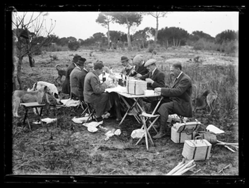 Almuerzo en monteria de Doñana