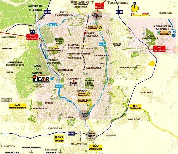 Mapa De Madrid Barrios De Madrid - Plano Casa De Campo Madrid ...